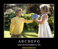 A B C D E F G – A Boy Can Do Everything For Girls