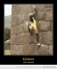 Klettern – Level: very hard