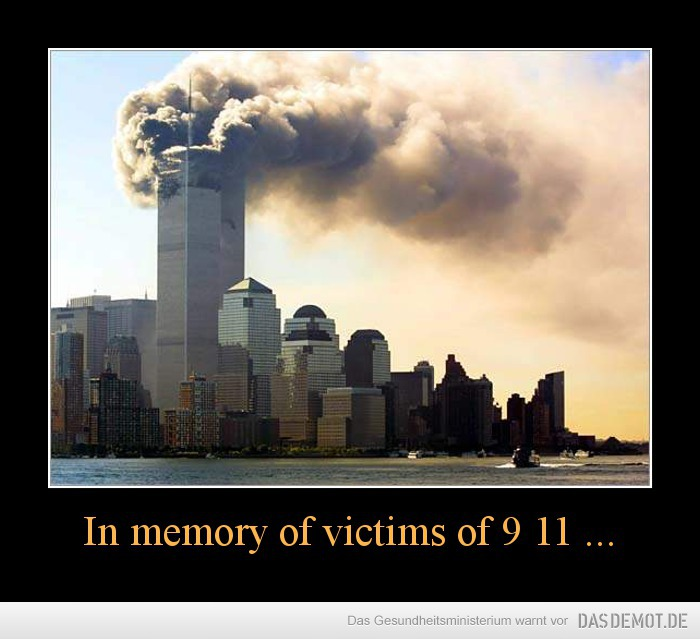 In memory of victims of 9 11 ... –