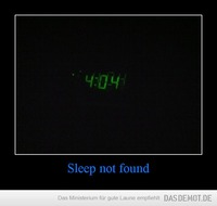 Sleep not found –