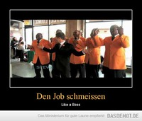 Den Job schmeissen – Like a Boss