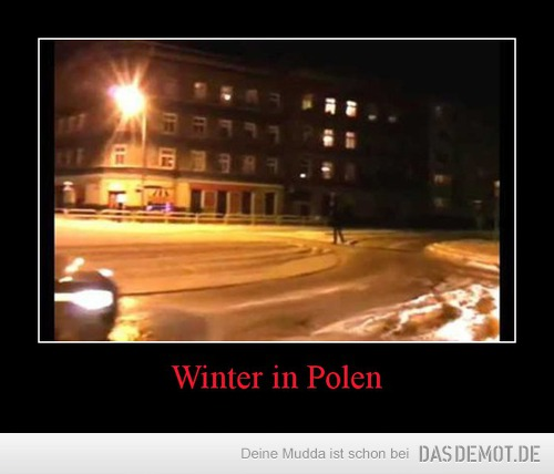 Winter in Polen –