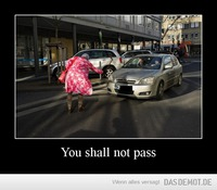 You shall not pass –