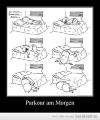 Parkour am Morgen –
