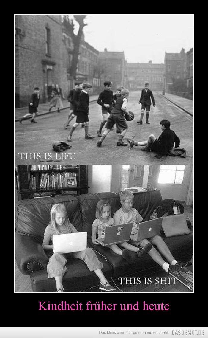Kindheit Früher Und Heute