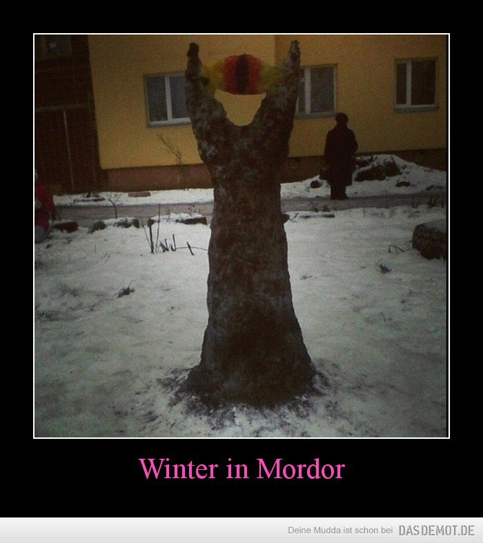 Winter in Mordor –